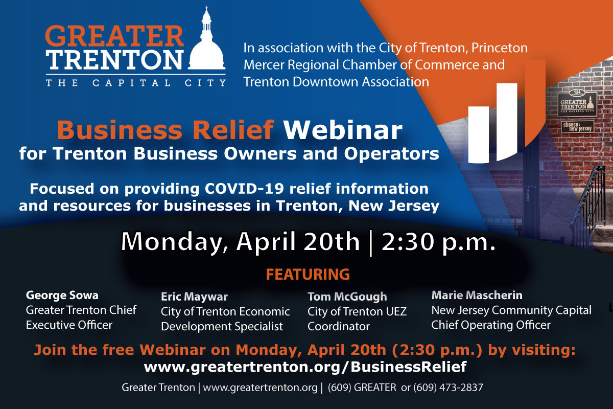 April 20th Business Relief Webinar for Trenton Business Owners and Operators