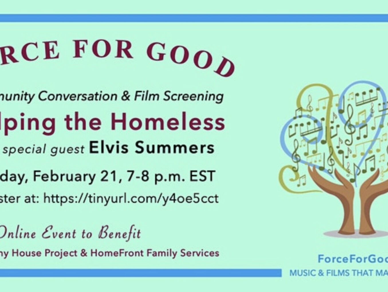 """A Virtual Screening of the Short Film """"Homeless"""" Debuts February 21st"""