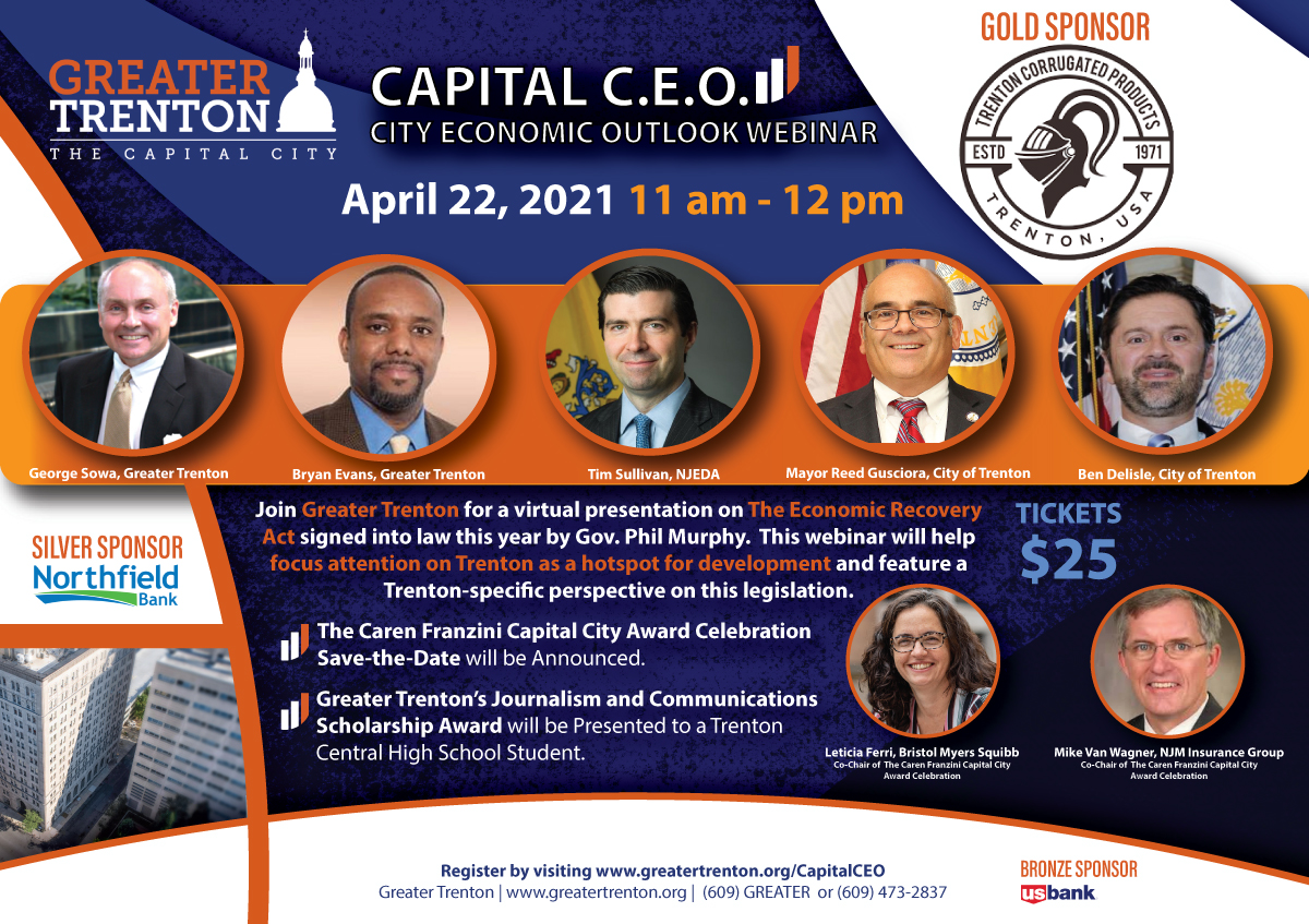 Greater Trenton's Capital CEO Webinar Goes Live April 22nd