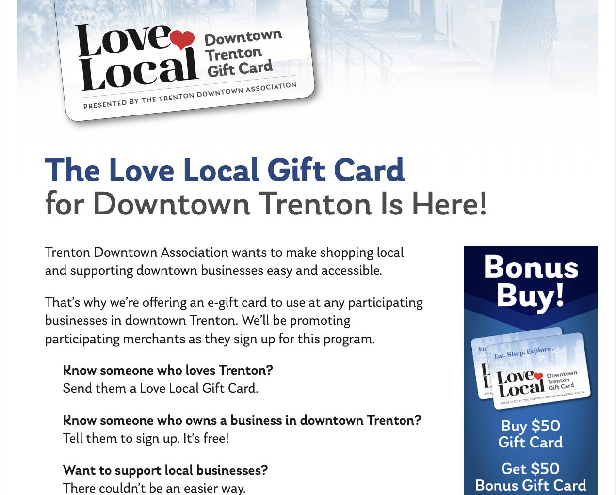 TDA Promotes Small Businesses with #LoveLocal Campaign