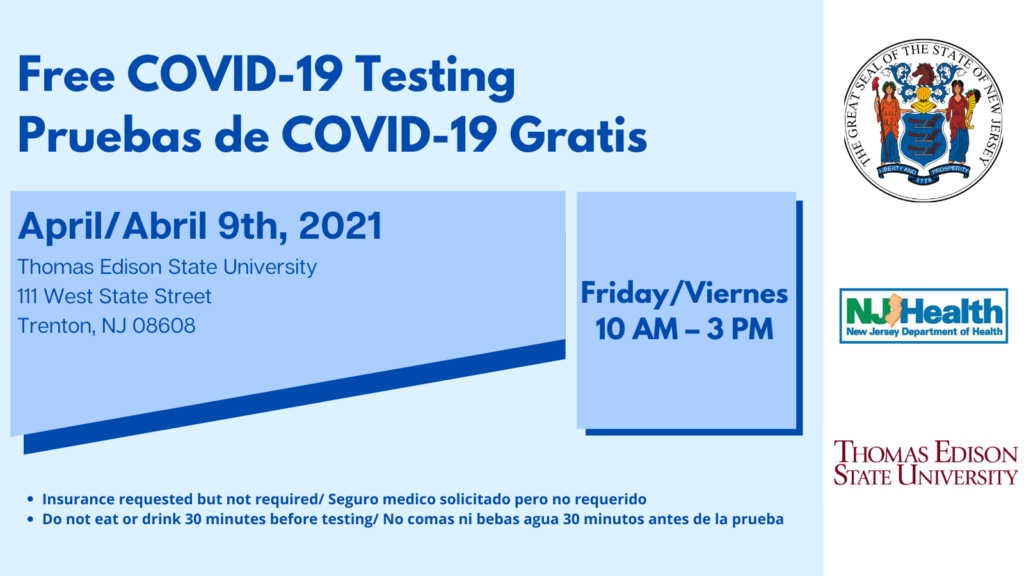 TESU offers Free COVID-19 Testing this Friday