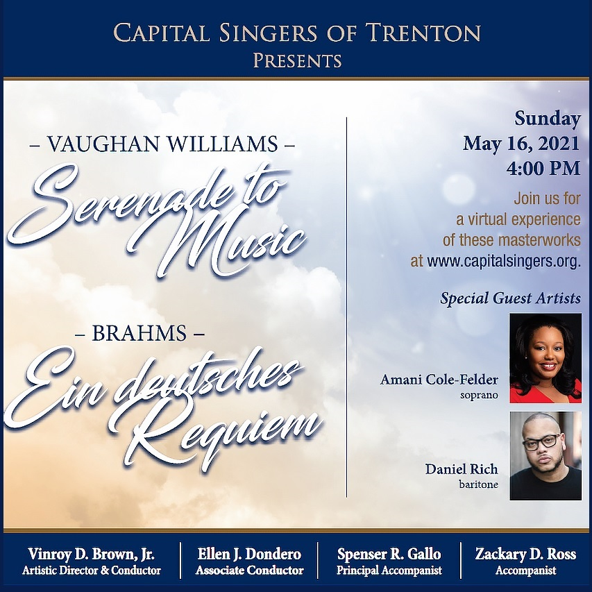 Capital Singers of Trenton to Present a Virtual Spring Concert