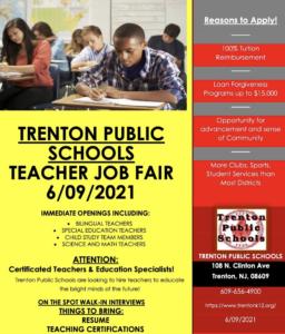 Trenton Public Schools Holds Job Fairs for Educators