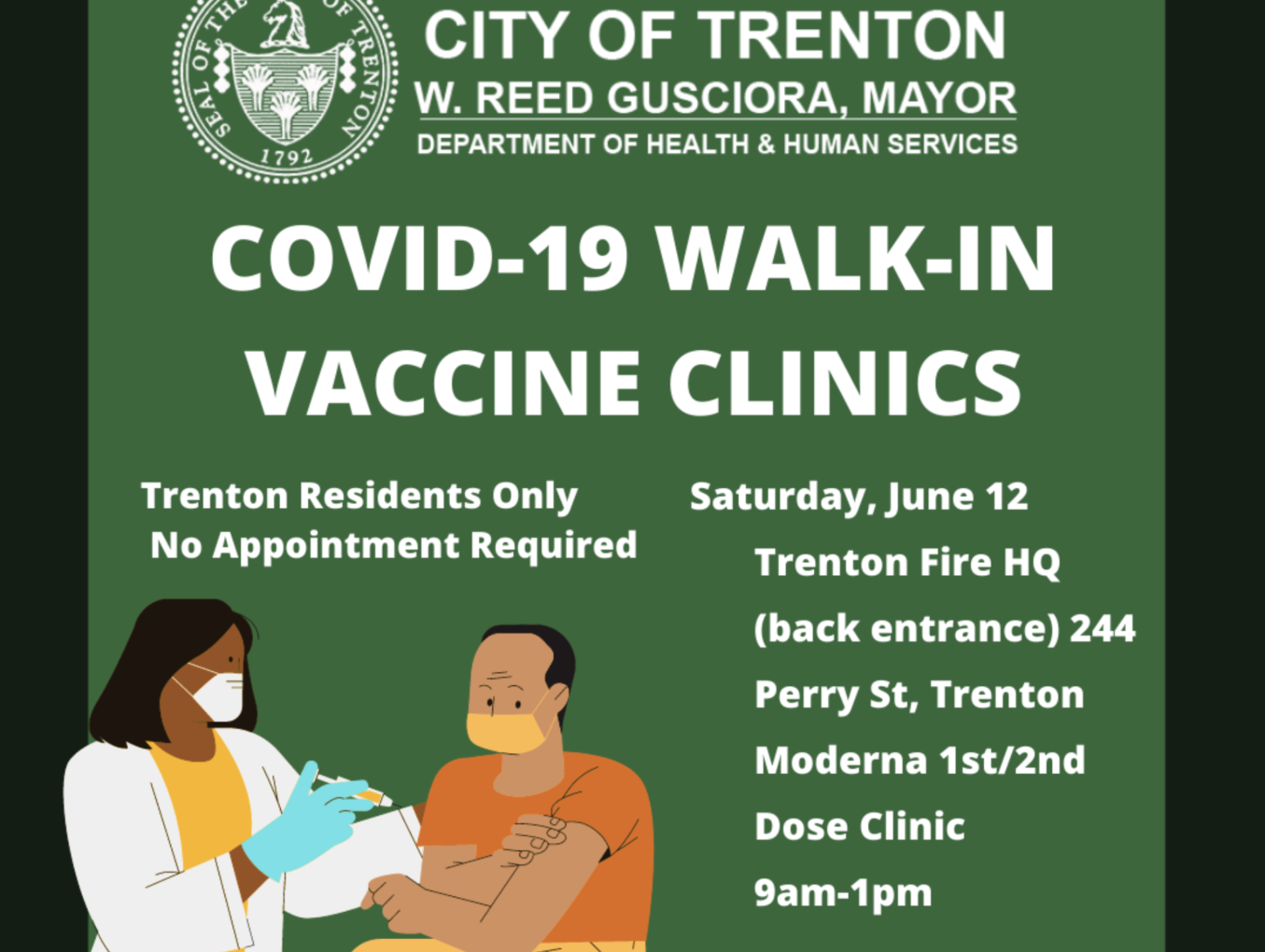 Walk-In Vaccine Clinic Today