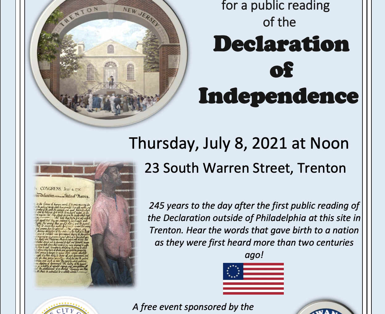 Trentonians Re-enact First Public Reading of the Declaration of Independence