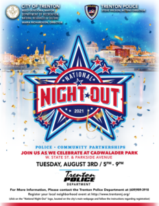 City of Trenton to Kick Off 37th National Night Out August 3