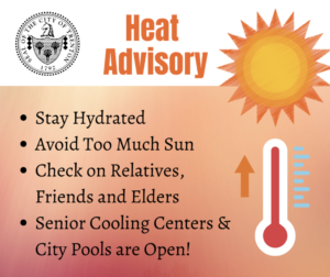 Cooling Centers Open for Heat Advisory