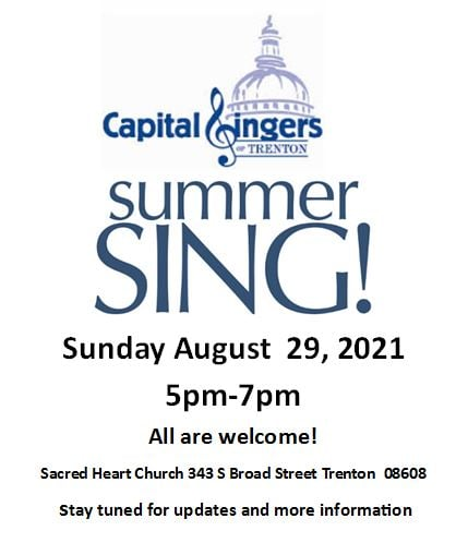 Join a Summer Sing with Capital Singers of Trenton