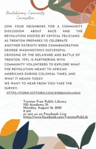 Revolutionary Community Conversation at Trenton Free Public Library